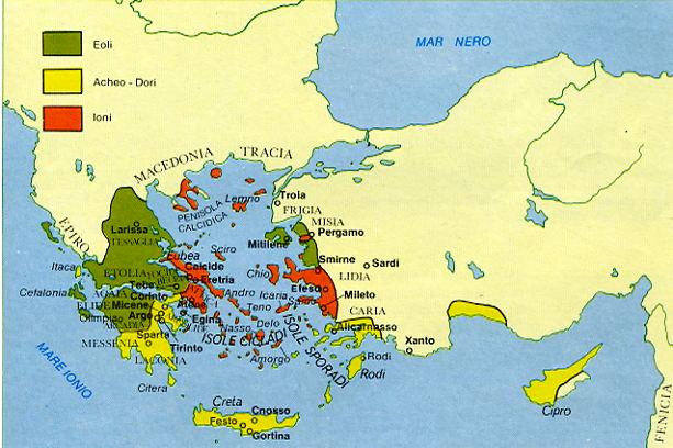 La ricreazione atlante storico il mondo greco for Cartina della grecia antica da stampare